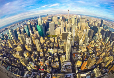 NEW YORK SKYLINE EMPIRE STATE BUILDING ARCHITECTURE H2OMARK LAPKIN GOPRO MANHATTAN